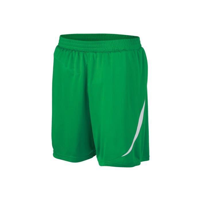 short sport homme vert blanc vert blanc achat vente short bermuda de sport les soldes sur. Black Bedroom Furniture Sets. Home Design Ideas