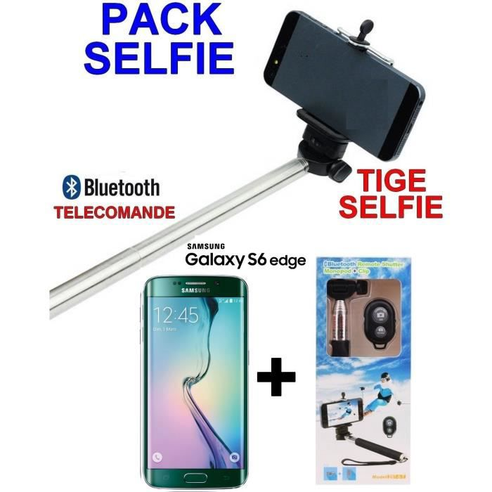 galaxy s6 edge samsung 32 giga neuf tige selfie sans fil. Black Bedroom Furniture Sets. Home Design Ideas
