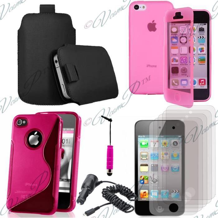 accessoires chargeur voiture pour apple iphone 4 4s 4g rose achat vente accessoires. Black Bedroom Furniture Sets. Home Design Ideas
