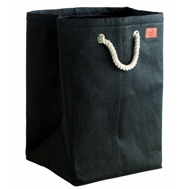 panier linge noir jute laundry zo achat vente. Black Bedroom Furniture Sets. Home Design Ideas