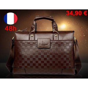 Sac sacoche homme luxe achat vente sac sacoche homme luxe pas cher cdiscount - Porte document homme luxe ...