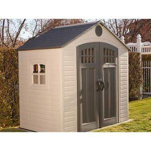 chalet de jardin en pvc achat vente chalet de jardin en pvc pas cher cdiscount. Black Bedroom Furniture Sets. Home Design Ideas