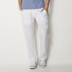 pantalon lin blanc homme id es de design d 39 int rieur. Black Bedroom Furniture Sets. Home Design Ideas