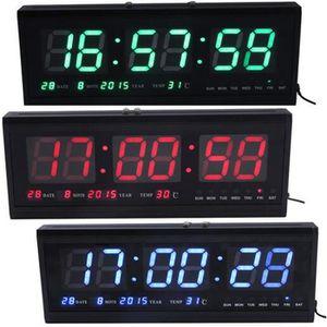 horloge murale numerique achat vente horloge murale numerique pas cher les soldes sur. Black Bedroom Furniture Sets. Home Design Ideas