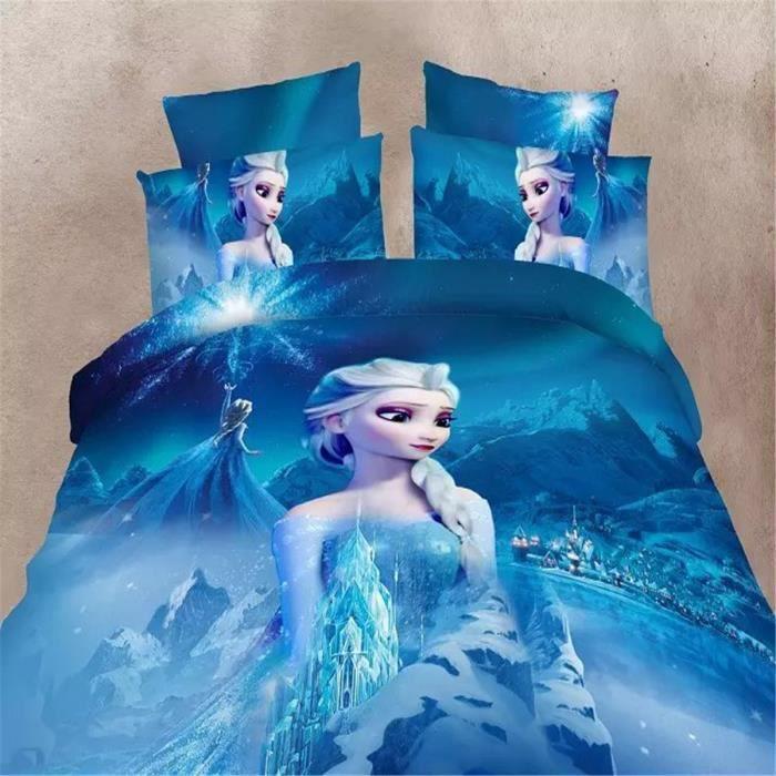 parure de couette parure de lit enfant la reine des neiges frozen 1 housse de couette 140 200. Black Bedroom Furniture Sets. Home Design Ideas