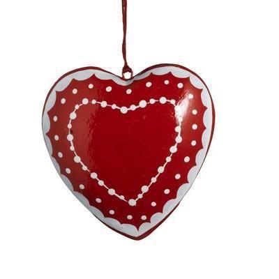 boule de no l coeur rouge et blanche achat vente boules de no l cdiscount. Black Bedroom Furniture Sets. Home Design Ideas