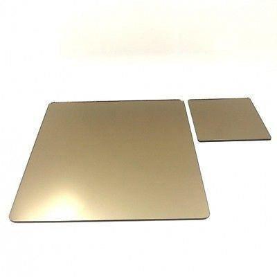 6 carr s napperons miroirs de bronze et sous verre achat for Miroir acrylique incassable