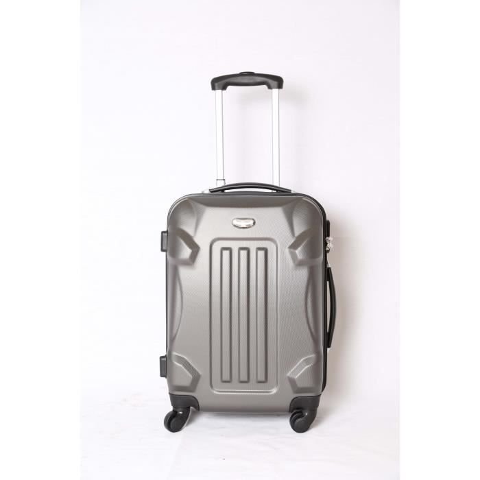 valise trolley taille cabine 4 roues 50cm gris achat vente valise bagage 6000006008653. Black Bedroom Furniture Sets. Home Design Ideas