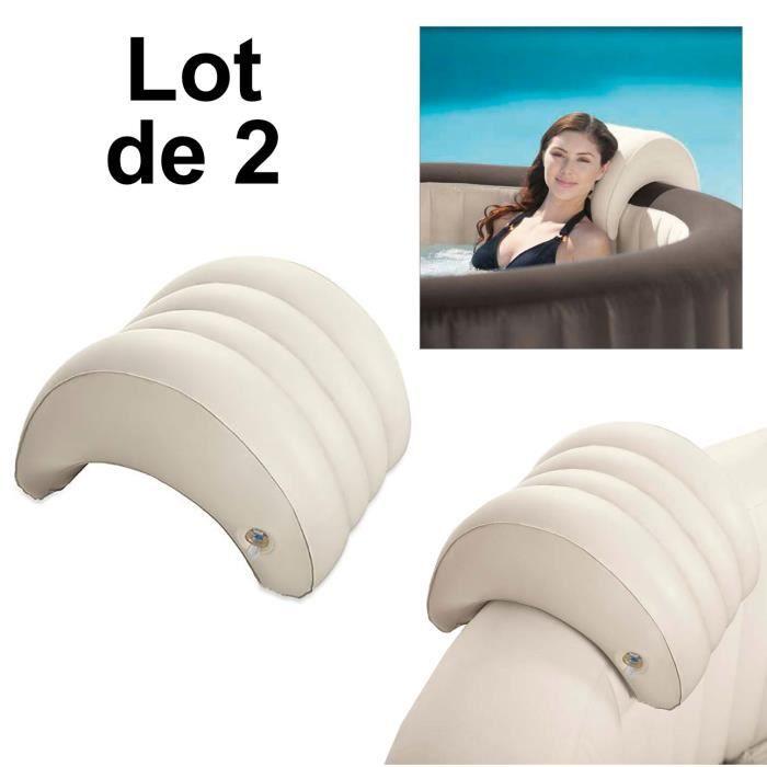 lot de 2 appuis t te gonflable pour spa intex appui t te spa intex achat vente coussin de. Black Bedroom Furniture Sets. Home Design Ideas