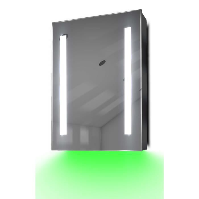 armoire de toilette anti bu e avec capteur et prise rasoir int rieure k354b gris achat. Black Bedroom Furniture Sets. Home Design Ideas