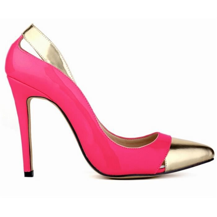 chaussure a talon femme rose. Black Bedroom Furniture Sets. Home Design Ideas