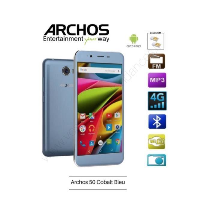 smartphone archos 50 cobalt bleu edition special achat smartphone pas cher avis et meilleur. Black Bedroom Furniture Sets. Home Design Ideas