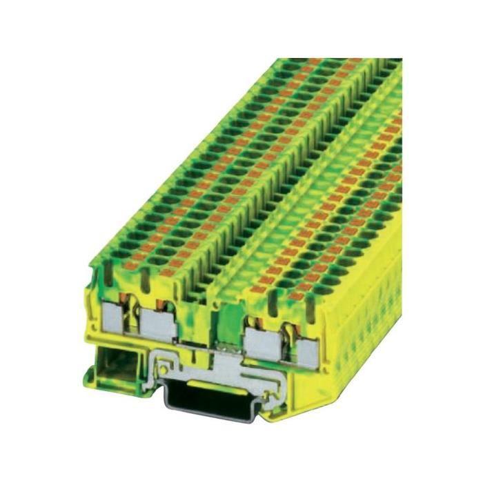 Bloc de jonction vert jaune l x l x h 77 x 6 2 x 36 5 mm - Bloc de jonction ...