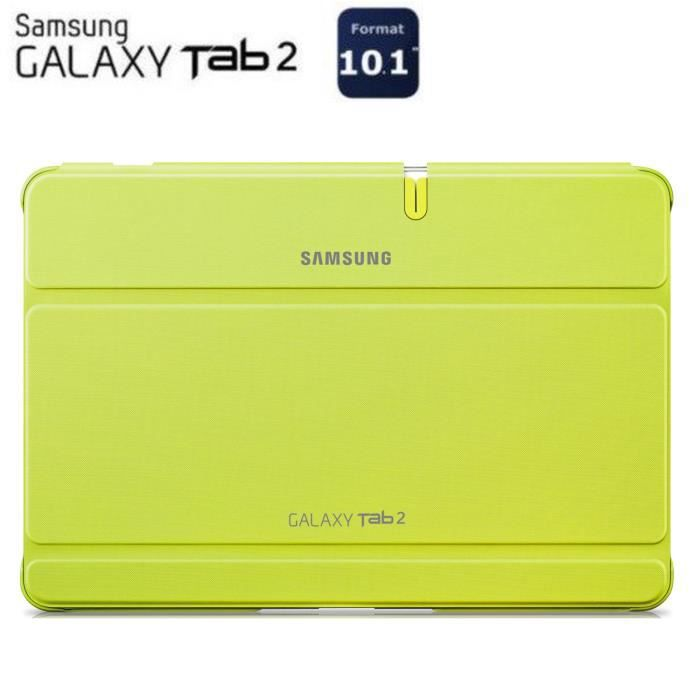 Samsung tui rabat galaxy tab 2 10 1 vert prix pas cher for Housse tab s2 8