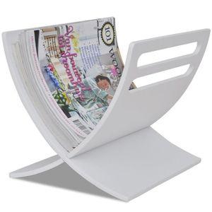 porte revues blanc achat vente porte revues blanc pas. Black Bedroom Furniture Sets. Home Design Ideas
