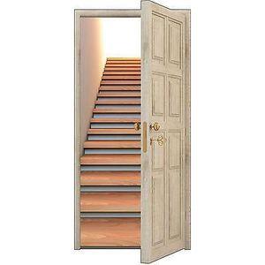 Trompe l oeil porte escalier achat vente trompe l oeil porte escalier pas - Stickers pour escalier ...