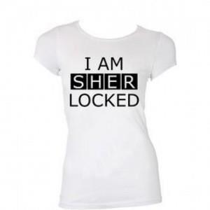 T-SHIRT T-shirt I am Sherlocked Femme blanc