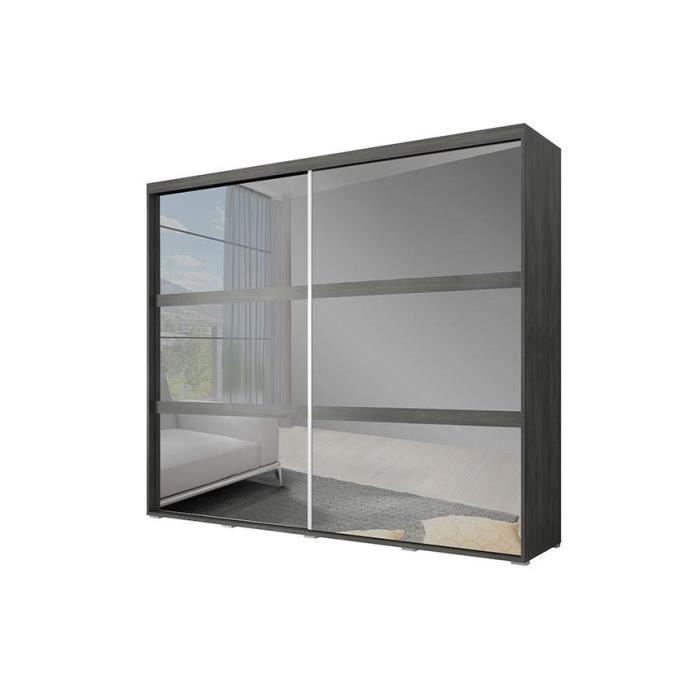 armoire 2 portes miroir adagio 230 cm achat vente. Black Bedroom Furniture Sets. Home Design Ideas