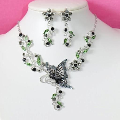 parure bijoux fantaisie mariage quotpapillon noirquot achat With parure bijoux fantaisie mariage