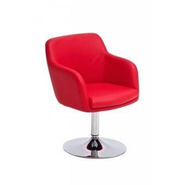Fauteuil davino rouge achat vente fauteuil simili for Petit fauteuil de salon