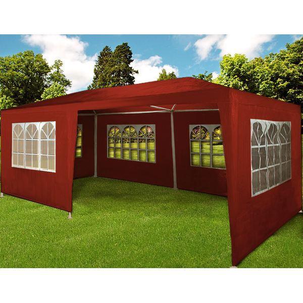 tonnelle brune rouge tente chapiteau barnum 3x6 achat. Black Bedroom Furniture Sets. Home Design Ideas