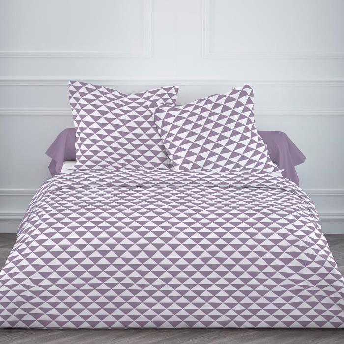 Parure de lit 4 pi ces trius aubergine achat vente parure de drap polyest - Cdiscount parure de lit ...