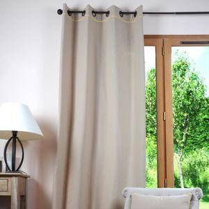 rideaux couleur lin achat vente rideaux couleur lin. Black Bedroom Furniture Sets. Home Design Ideas