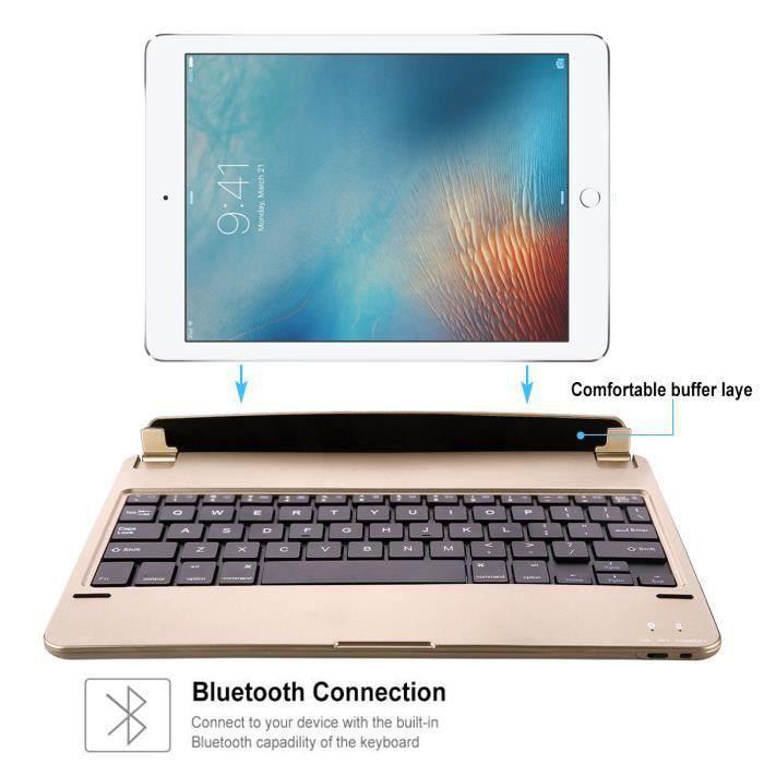 akone clavier bluetooth pour ipad pro 9 7 pouces gold. Black Bedroom Furniture Sets. Home Design Ideas