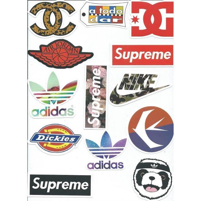 Lot 13 stickers autocollants grandes marques pour skate - Grandes marques de the ...