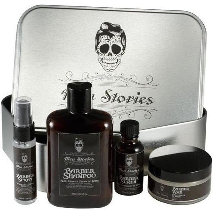 coffret barber men stories 4 produits achat vente kit rasage coffret barber men stories. Black Bedroom Furniture Sets. Home Design Ideas