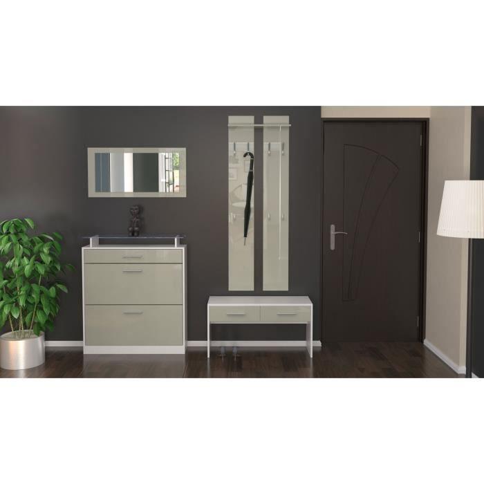 Ensemble de meubles laqu blanc sable 104 cm achat vente dressing pende - Penderie blanc laque ...