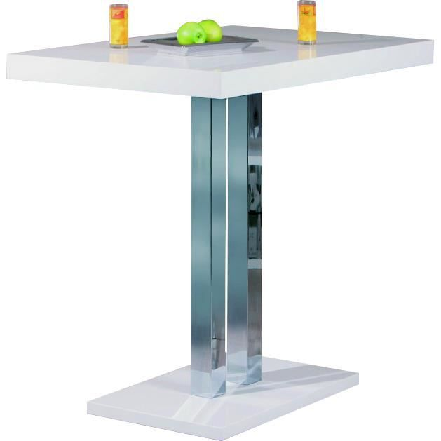 Table bar blanc laque achat vente table bar blanc laque pas cher cdiscount - Table bar blanc laque ...