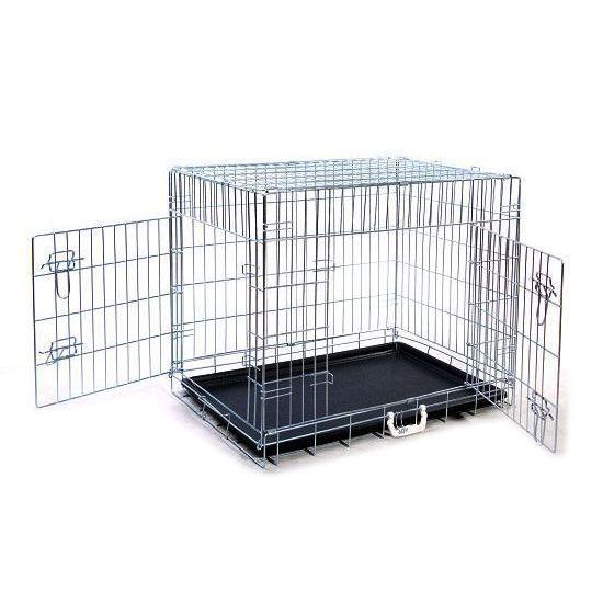 cage de transport chien argent 93x71x62 achat vente caisse de transport cage de transport. Black Bedroom Furniture Sets. Home Design Ideas