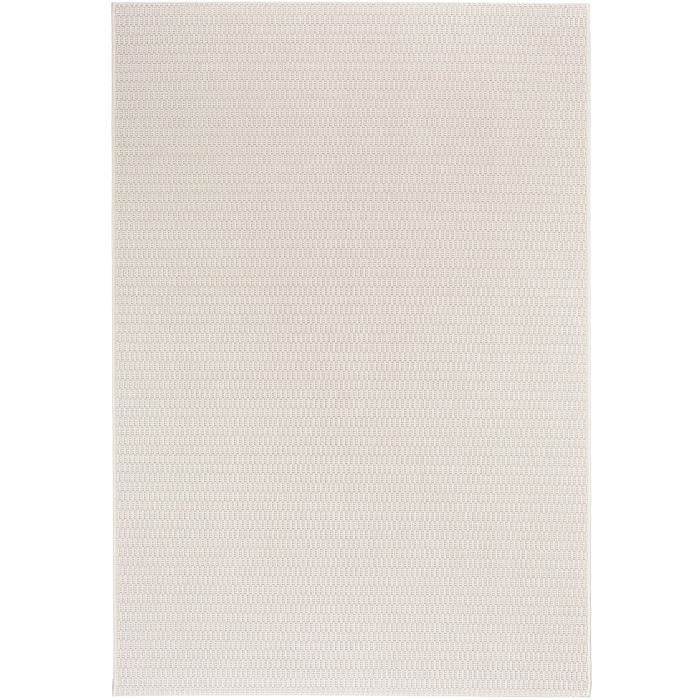 benuta tapis d 39 39 ext rieur tapis grace plain blanc 80x150 cm 39 achat vente tapis cdiscount. Black Bedroom Furniture Sets. Home Design Ideas