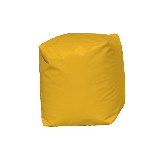 pouf cube jaune jaune achat vente pouf poire 100 polyester les soldes sur cdiscount. Black Bedroom Furniture Sets. Home Design Ideas