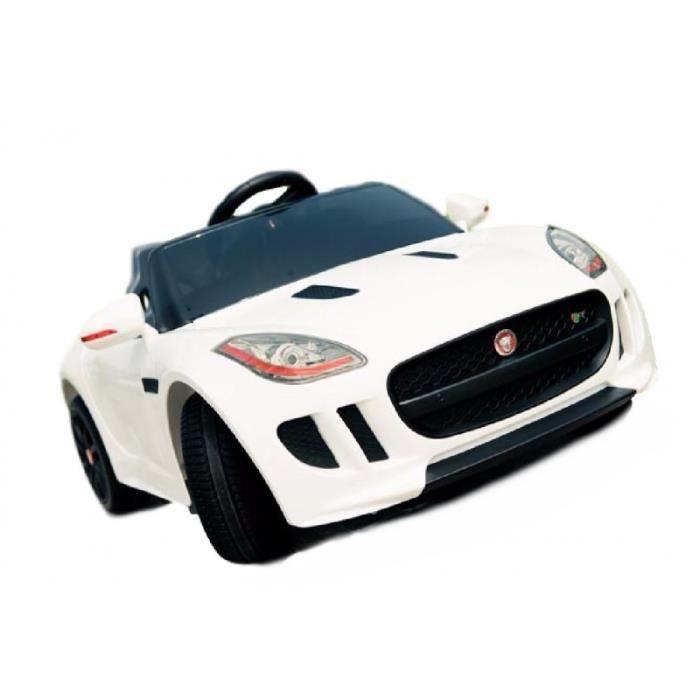 voiture lectrique pour enfant jaguar f blanc 2x35w achat vente voiture enfant cdiscount. Black Bedroom Furniture Sets. Home Design Ideas