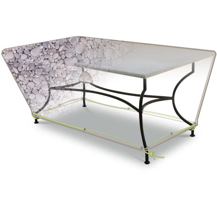 Housse de protection imprimee table rect 6 8 pers achat - Housse de protection meuble exterieur ...