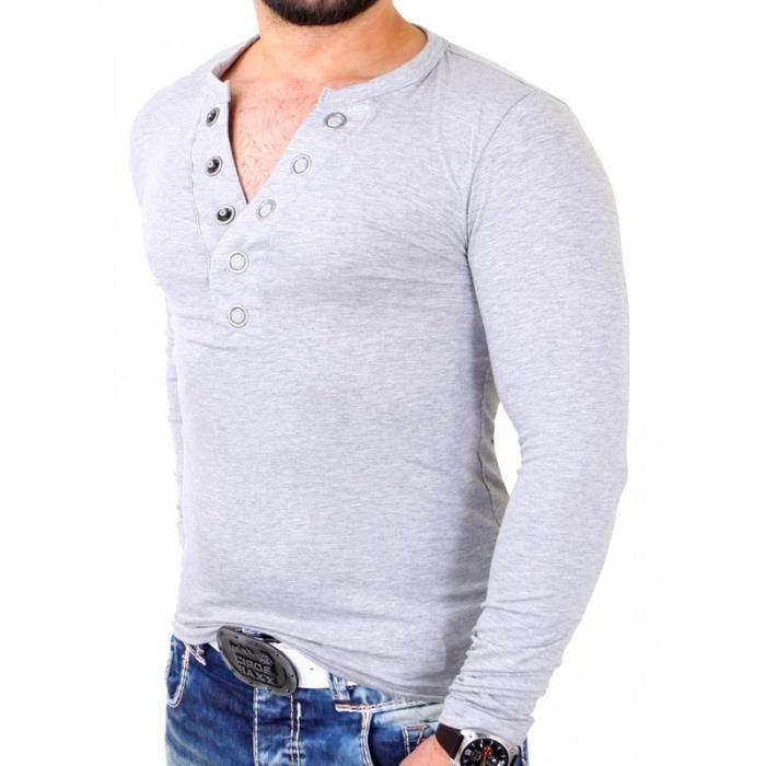 t shirt tendance homme t shirt crsm3013 gris clair gris achat vente t shirt soldes cdiscount. Black Bedroom Furniture Sets. Home Design Ideas