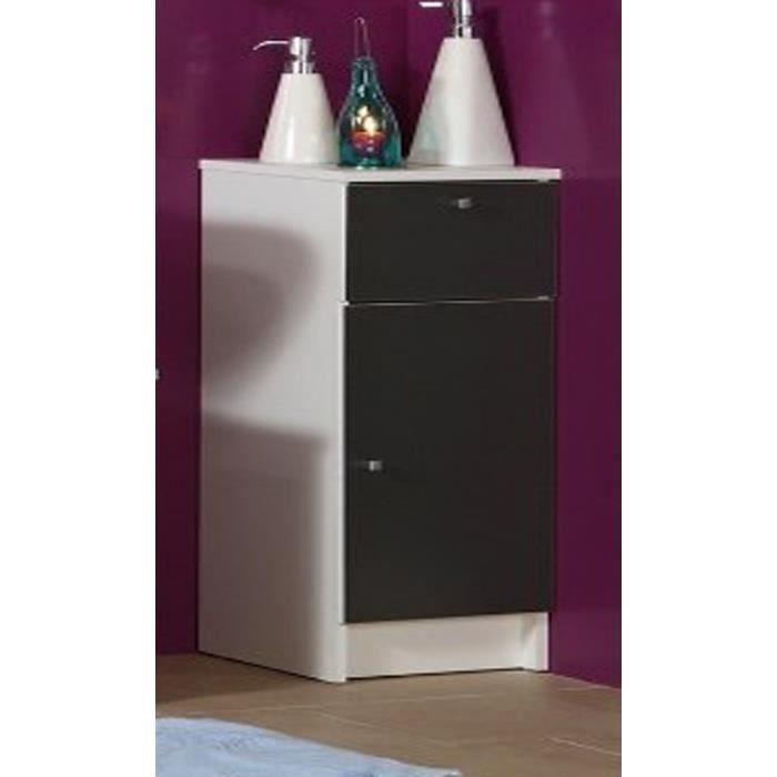El ment de salle de bain avec 1 porte et d 39 un rayon h 84 for Element salle de bain