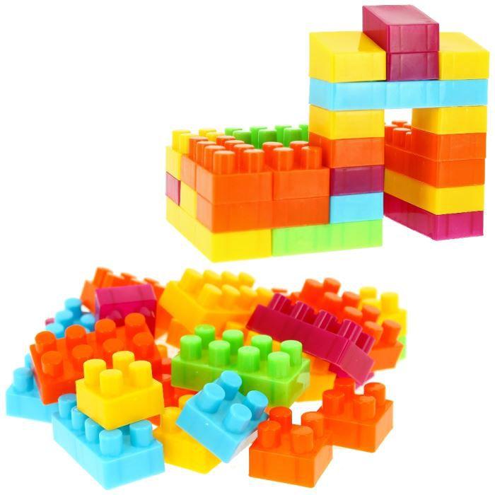 lot jeu 28 mini blocs de construction jouet enfant achat. Black Bedroom Furniture Sets. Home Design Ideas