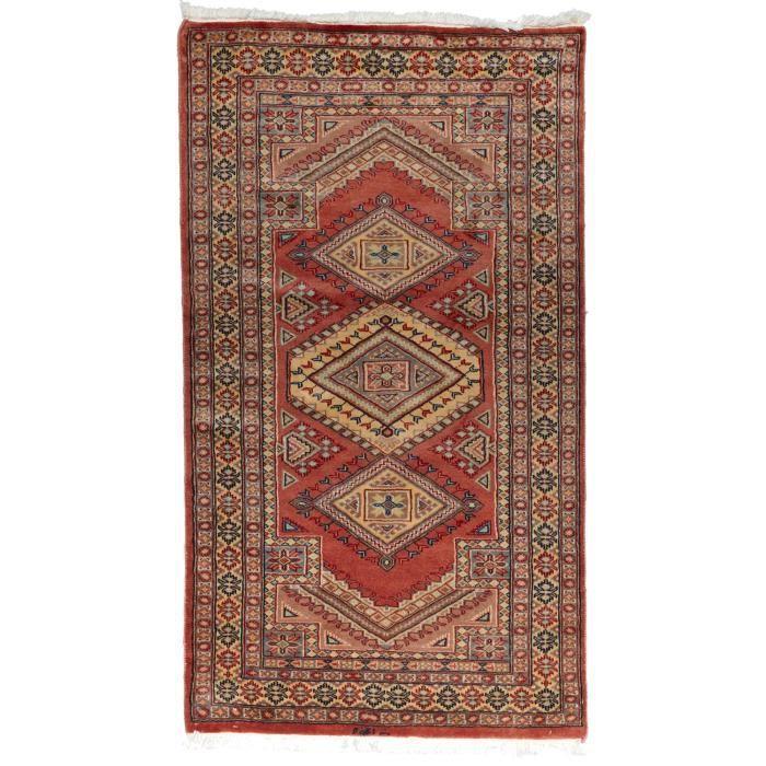 tapis d 39 orient nou main multan 7 rouge 90x165 achat vente tapis cdiscount. Black Bedroom Furniture Sets. Home Design Ideas