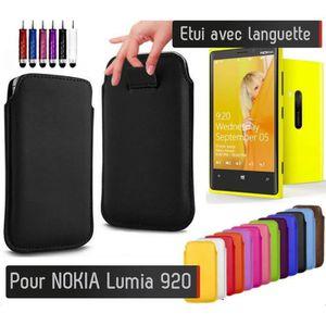 HOUSSE - ÉTUI Pull up Nokia Lumia 920 (JAUNE) Etui Housse Protec