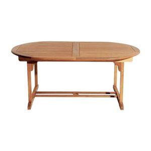 table de jardin bois ovales achat vente table de jardin bois ovales pas cher cdiscount. Black Bedroom Furniture Sets. Home Design Ideas