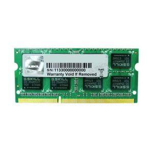 MÉMOIRE RAM G.Skill SODIMM 2Go DDR3-SDRAM - F3-10666CL9S-2GBSQ