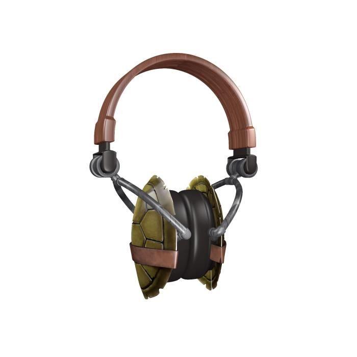 Casque tortues ninja en forme de carapace avec mic casque couteur audio avis et prix pas - Tortue ninja orange ...