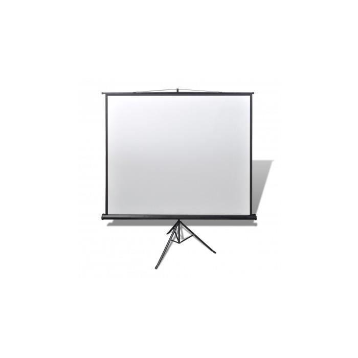 ecran de projection manuel avec tr pied r glable 160 x 160 cm 1 1 ecran de projection avis et. Black Bedroom Furniture Sets. Home Design Ideas