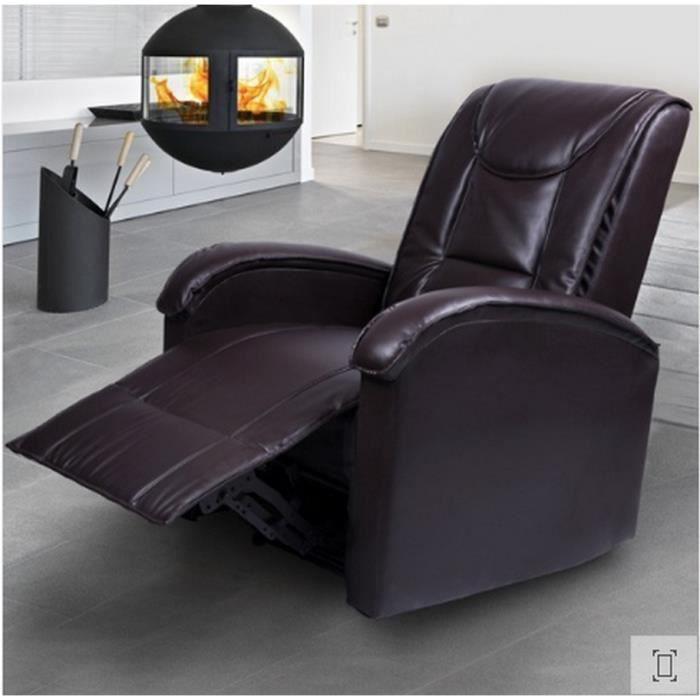fauteuil relaxant simili cuir avec rembourrage si ge achat vente lit a baldaquin fauteuil. Black Bedroom Furniture Sets. Home Design Ideas