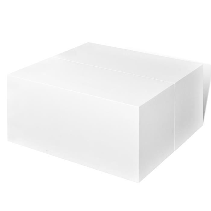 table basse blanche avec rangement central achat vente table basse table basse blanche avec. Black Bedroom Furniture Sets. Home Design Ideas