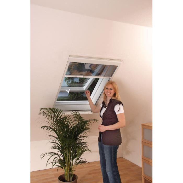 moustiquaire v lux pare soleil l80xh140cm blanc achat. Black Bedroom Furniture Sets. Home Design Ideas