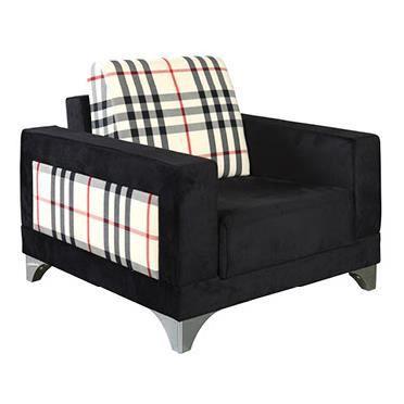 Fauteuil moderne en tissu coloris noir motif achat vente fauteuil noir cdiscount - Moderne fauteuils ...